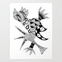 Tenacious Bird Art Print