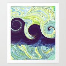 Abstract Ocean Waves Art Print