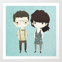 The Happily Im-Perfect Couple Art Print