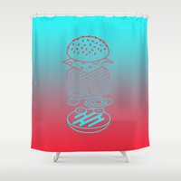 Burgertime Shower Curtain
