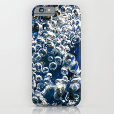Blue Bubbles Macro photography River stream underwater abstract art bright bold vibrant color! iPhone 6s Slim Case