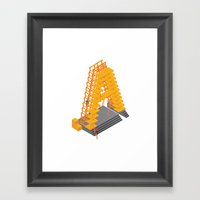 3D Letter Framed Art Print