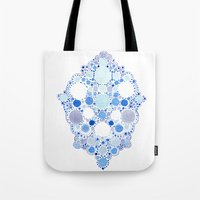 Blue Watercolor Dots Tote Bag