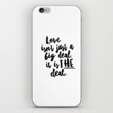 Love is the deal iPhone & iPod Skin