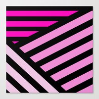 STRIPED {PINK} Canvas Print