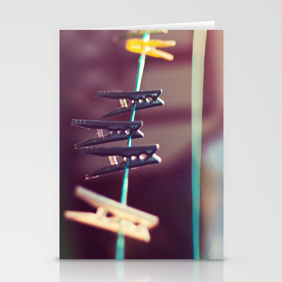 Pegs Stationery Card