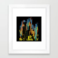 Strippy City Framed Art Print