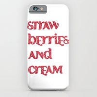 iPhone & iPod Case featuring Strawberries And Cream by Flo Thomas