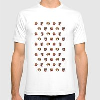 Cute And Elegant Dog Hea… Mens Fitted Tee White SMALL
