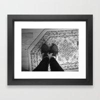 Winter Feet. Framed Art Print