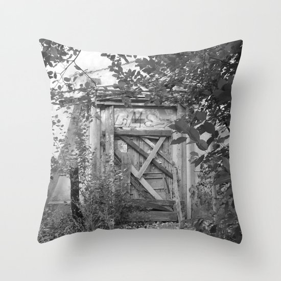 "Door to the deep down ""LIME"" Throw Pillow"