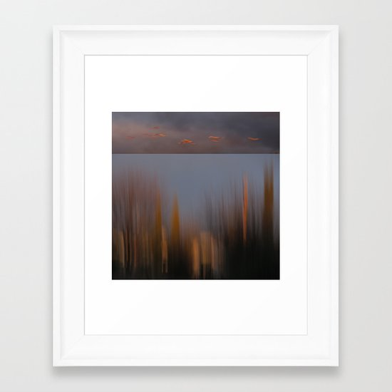 Dusk Fly By Framed Art Print