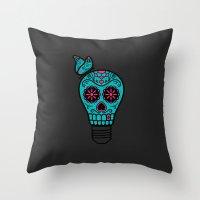Noche de los Muertos Throw Pillow