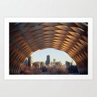 People's Gas Pavilion In… Art Print