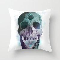 Ājňā - The Summoning Throw Pillow