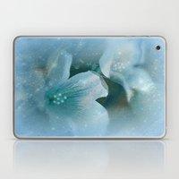 HEAVENLY BLUE FLOWERS Laptop & iPad Skin