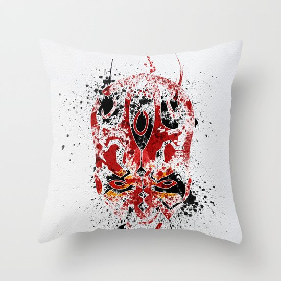 Red Rage Throw Pillow