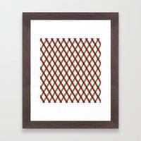 Holiday Ribbon Pattern Framed Art Print