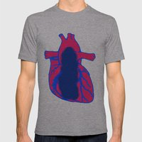 Vacant Heart Mens Fitted Tee Athletic Grey SMALL