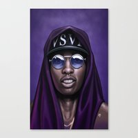 Purple Swag Canvas Print