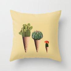 3 Cactus Throw Pillow