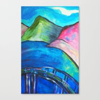 Heart Bridge Canvas Print