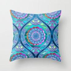 Radiant Boho Color Play Throw Pillow