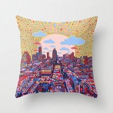 austin texas city skyline Throw Pillow