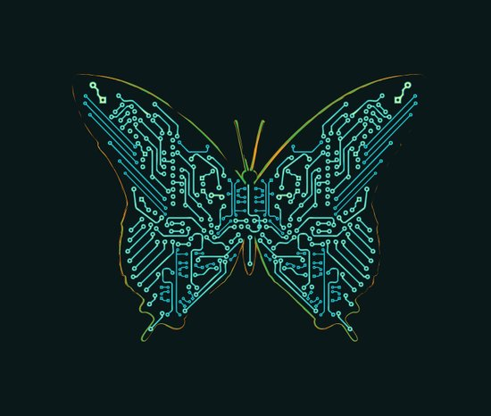Mechanical Butterfly Art Print
