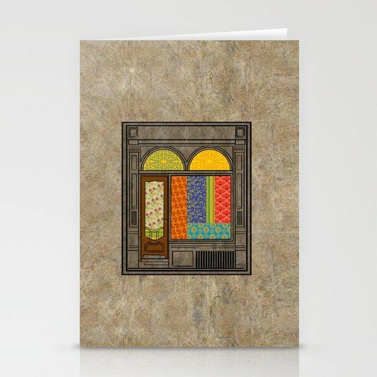 Shop windows Stationery Card