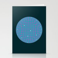 Sphere Blue Stationery Cards