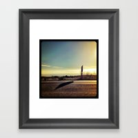 Driving To San Diego. Framed Art Print