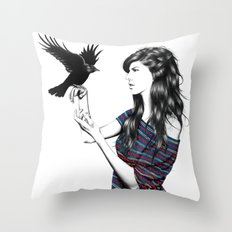 Dark Wings Throw Pillow