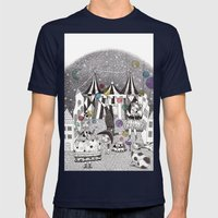 Night Carnival Mens Fitted Tee Navy SMALL