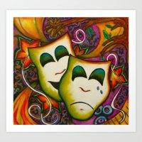 Masks (Theatre) Art Print