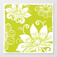 Green Lotus Canvas Print