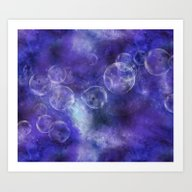 Art Print featuring Space Universe by LebensART