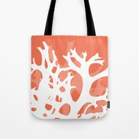 Abstract Coral  Tote Bag