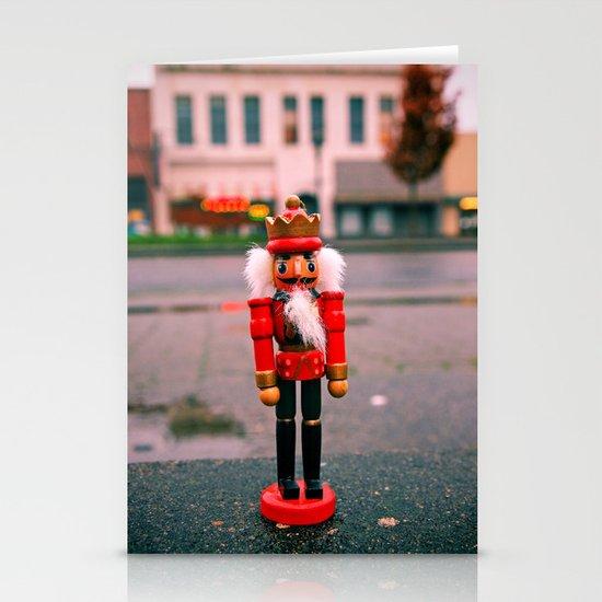 Sidewalk nutcracker Stationery Card