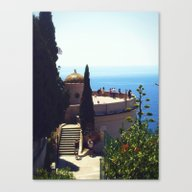 French Riviera Ruins Canvas Print