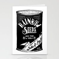 Rainbow Seeds Stationery Cards