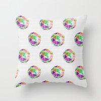 Vivid Dodecahedron Throw Pillow