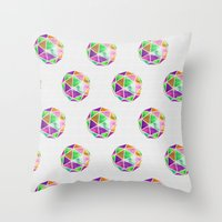 Vivid Dodecahedron Throw Pillow
