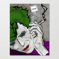 David Bowie As The Joker Canvas Print