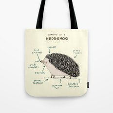 Anatomy Of A Hedgehog Tote Bag