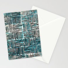 Black and Blue Pattern Print Stationery Cards