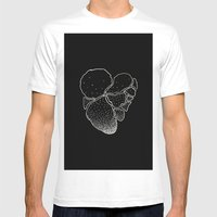 BLACK HEART Mens Fitted Tee White SMALL