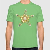 starfish flowers blue Mens Fitted Tee Grass SMALL