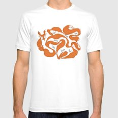 fox tail maze White SMALL Mens Fitted Tee