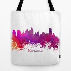 Minneapolis skyline purple Tote Bag